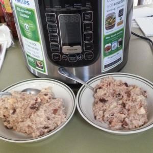 apple and cinnamon nutmilk porridge