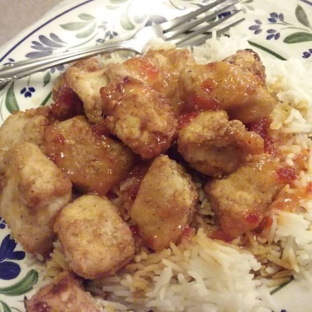 airfryer-chicken-with-sauce